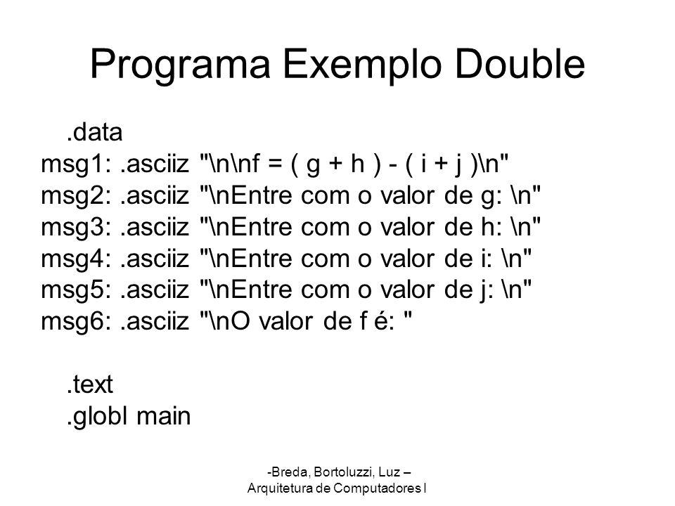 Programa Exemplo Double