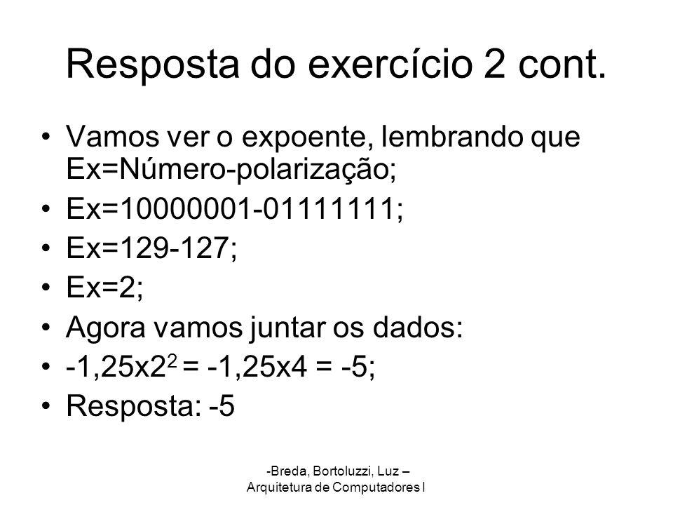 Resposta do exercício 2 cont.