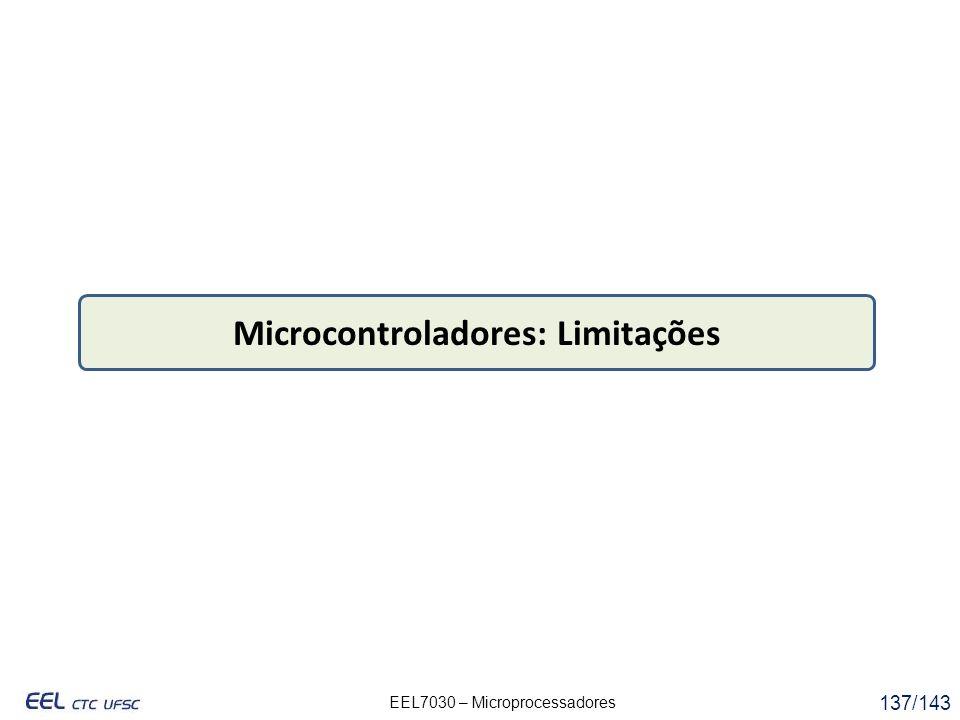 Microcontroladores: Limitações
