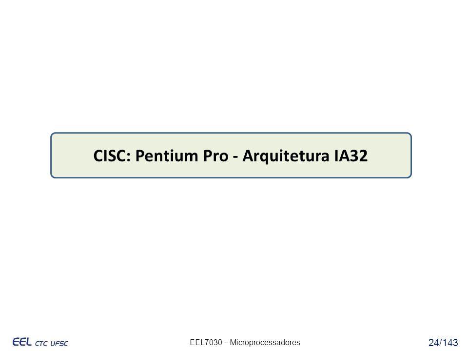 CISC: Pentium Pro - Arquitetura IA32