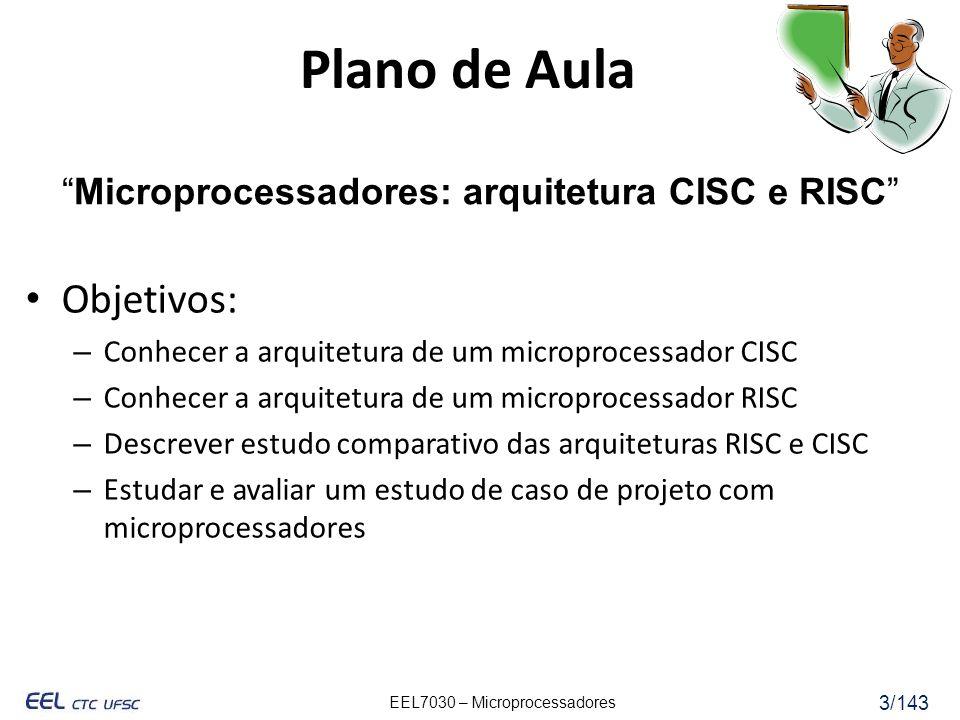 Microprocessadores: arquitetura CISC e RISC