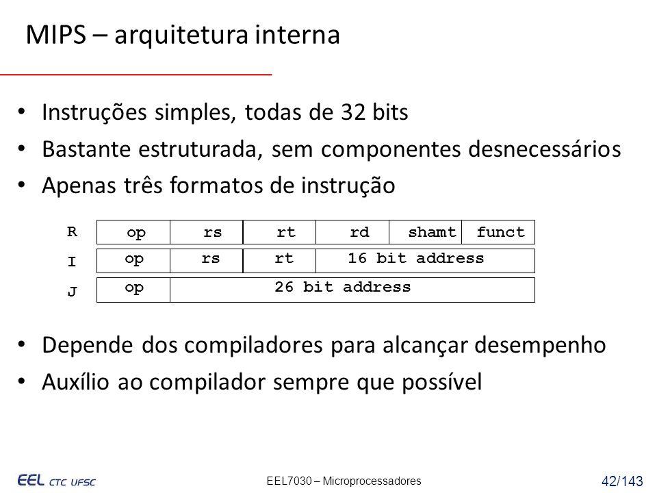 MIPS – arquitetura interna