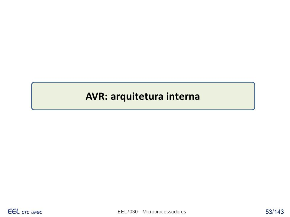AVR: arquitetura interna