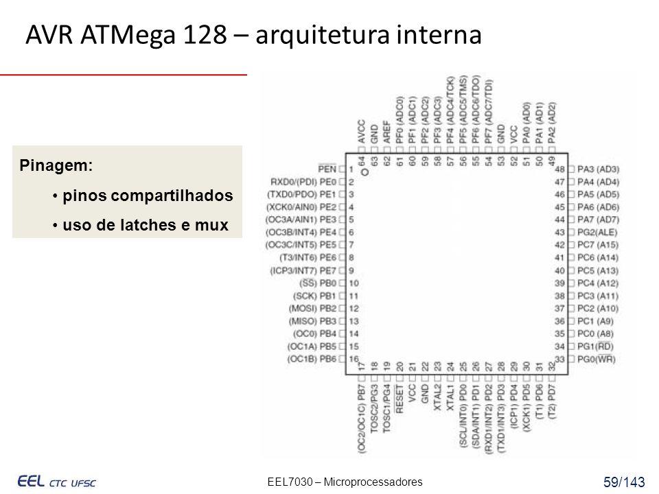 AVR ATMega 128 – arquitetura interna