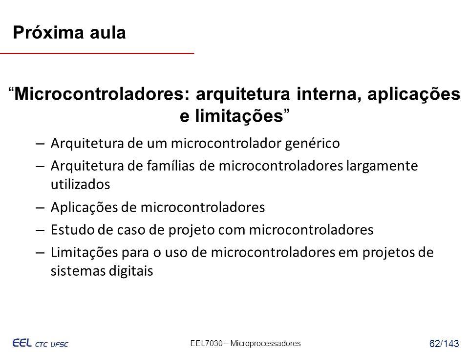 Microcontroladores: arquitetura interna, aplicações e limitações