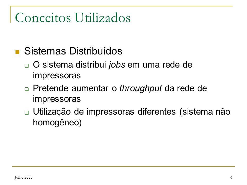 Conceitos Utilizados Sistemas Distribuídos