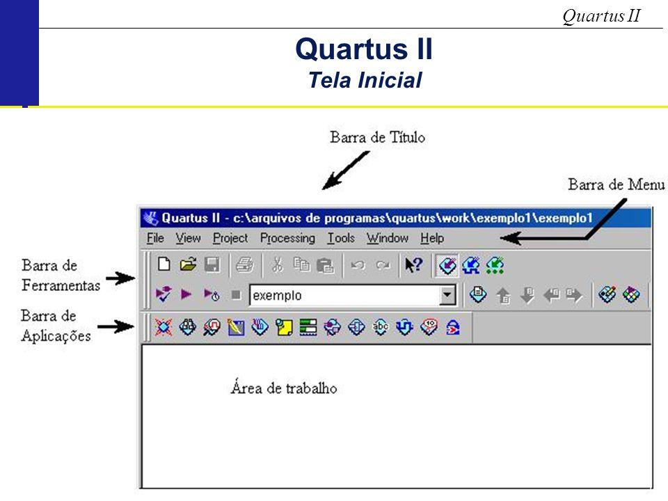 Quartus II Tela Inicial