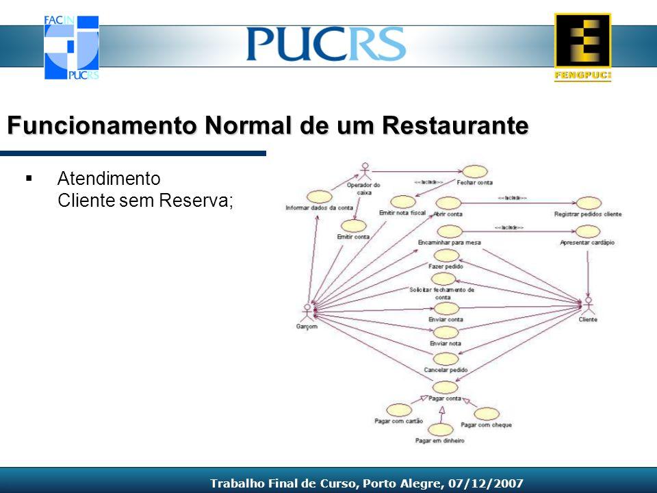 Funcionamento Normal de um Restaurante