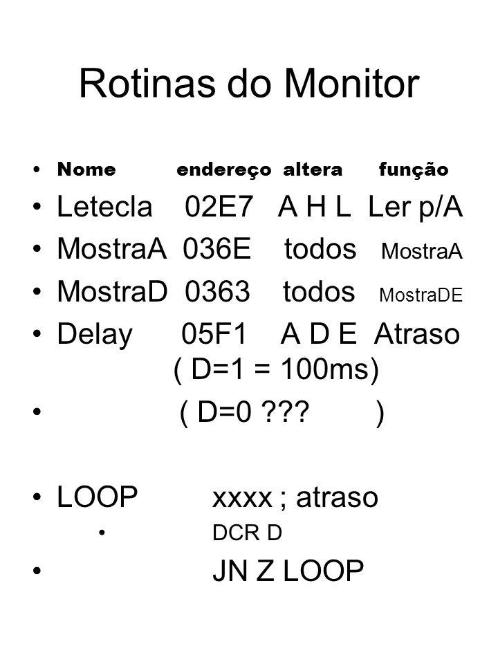 Rotinas do Monitor Letecla 02E7 A H L Ler p/A