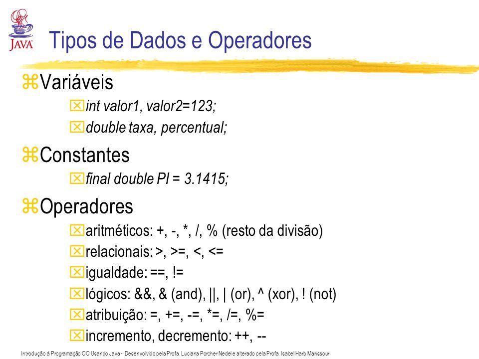 Tipos de Dados e Operadores