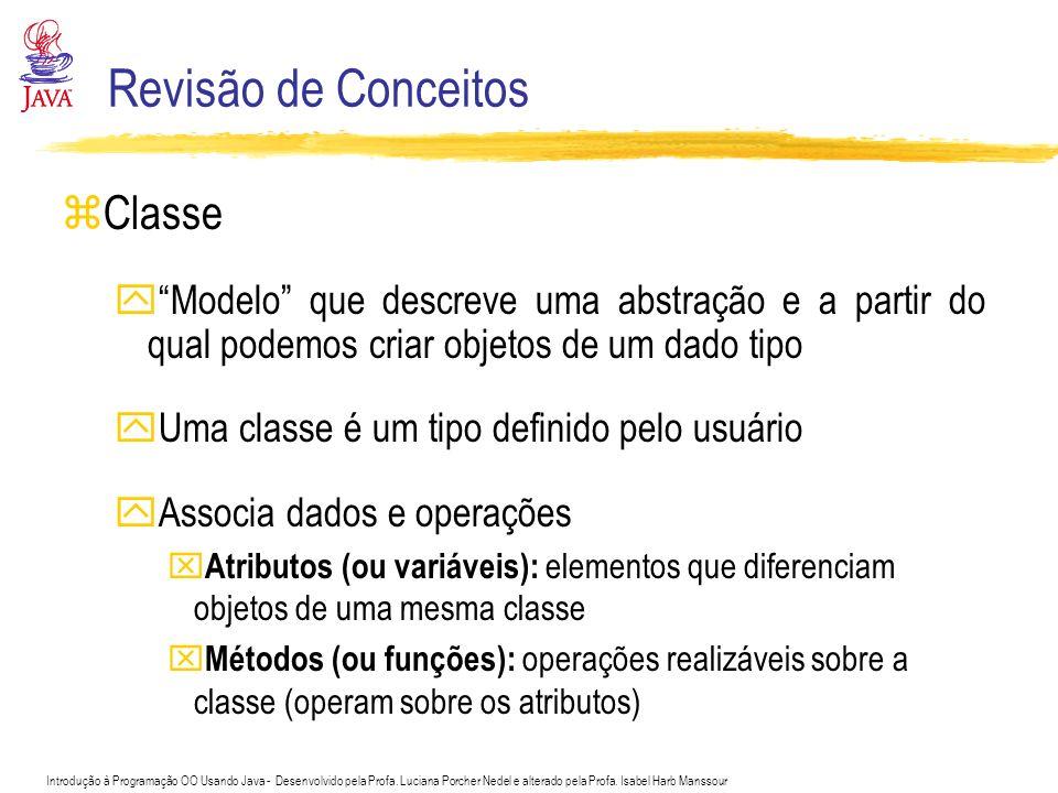 Revisão de Conceitos Classe