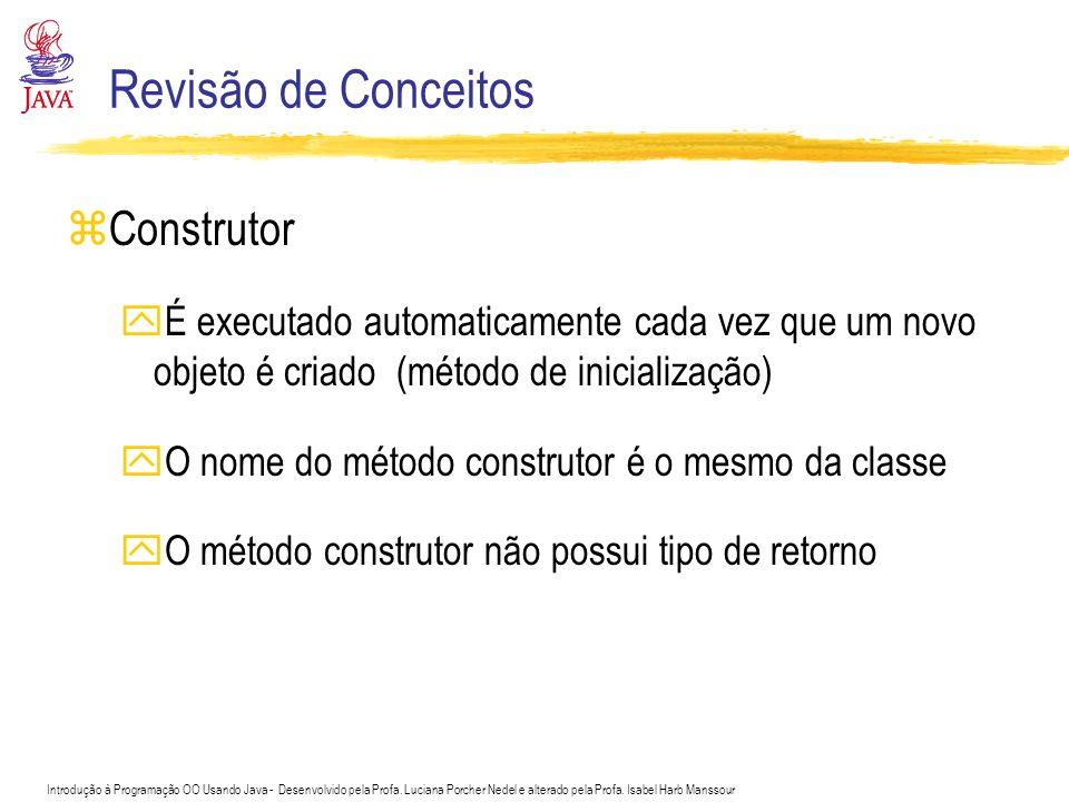 Revisão de Conceitos Construtor