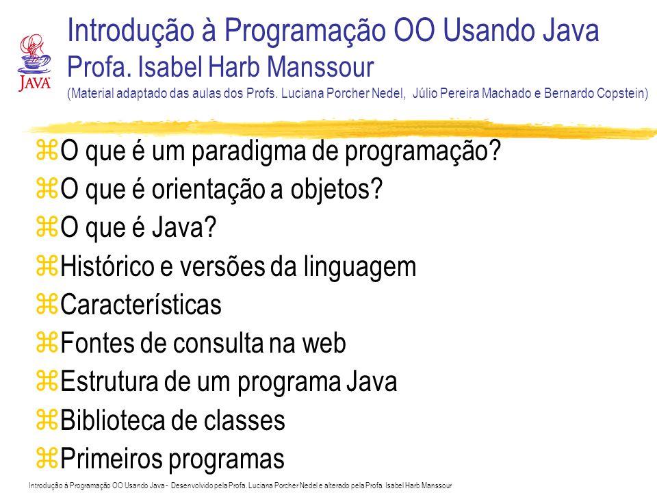 Introdução à Programação OO Usando Java Profa
