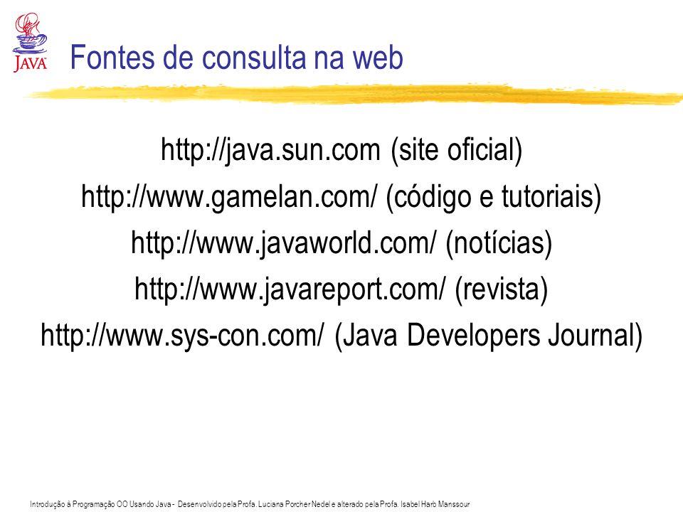 Fontes de consulta na web