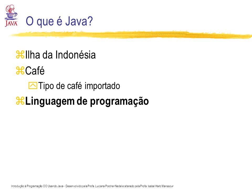 O que é Java Ilha da Indonésia Café Linguagem de programação