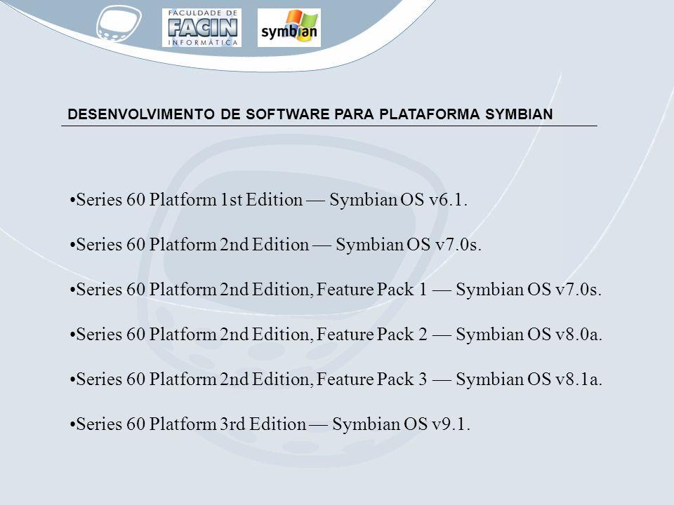 Series 60 Platform 1st Edition — Symbian OS v6.1.