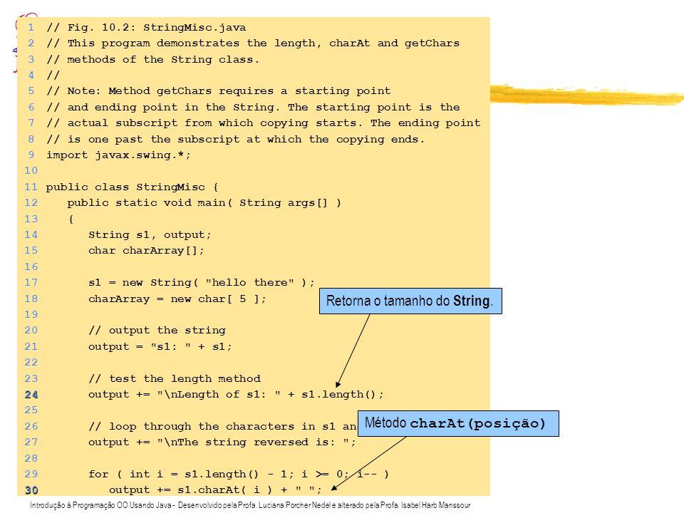 Exemplo de uso de strings