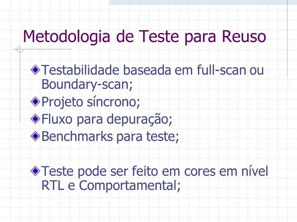 Metodologia de Teste para Reuso
