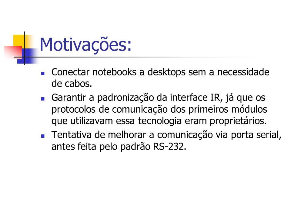Motivações: Conectar notebooks a desktops sem a necessidade de cabos.