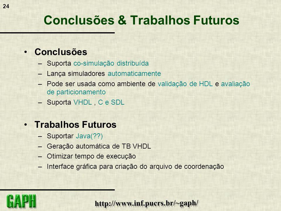 Conclusões & Trabalhos Futuros