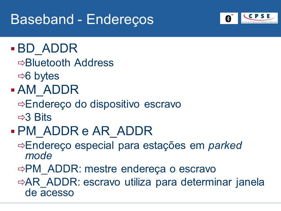 Baseband - Endereços BD_ADDR AM_ADDR PM_ADDR e AR_ADDR