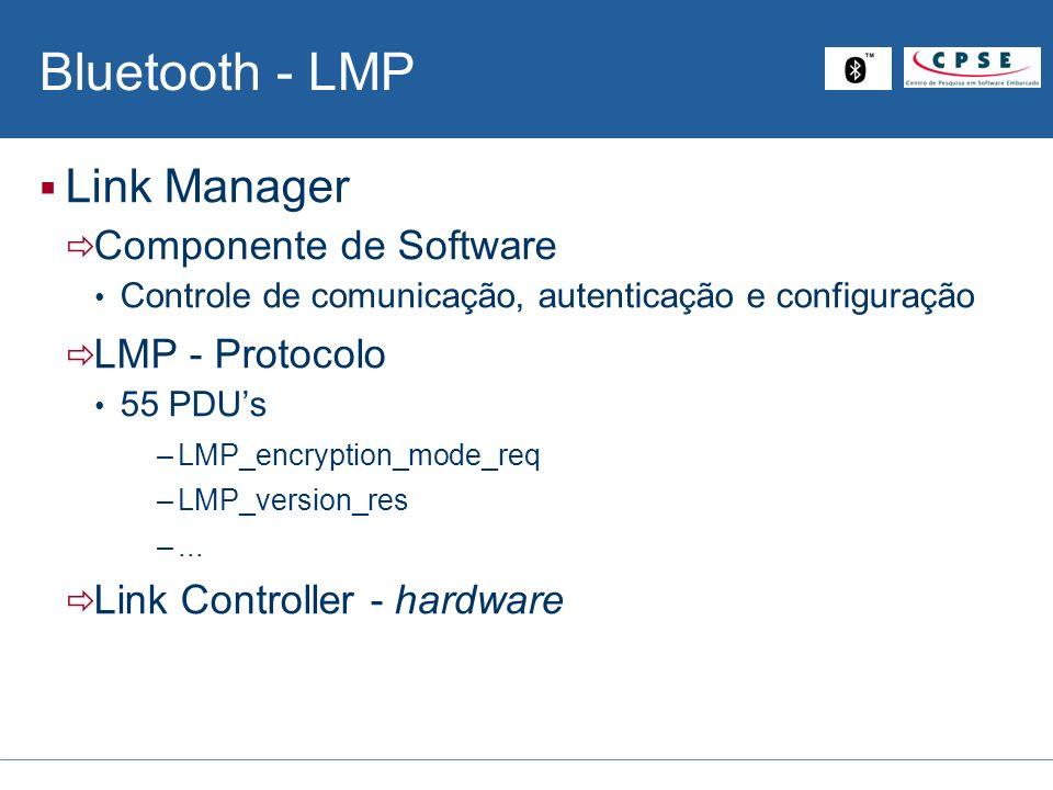 Bluetooth - LMP Link Manager Componente de Software LMP - Protocolo