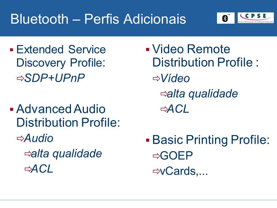 Bluetooth – Perfis Adicionais