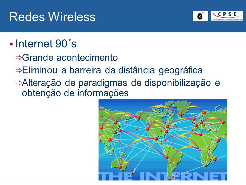 Redes Wireless Internet 90´s Grande acontecimento