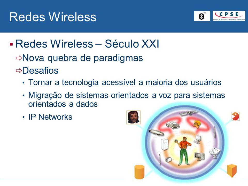 Redes Wireless Redes Wireless – Século XXI Nova quebra de paradigmas