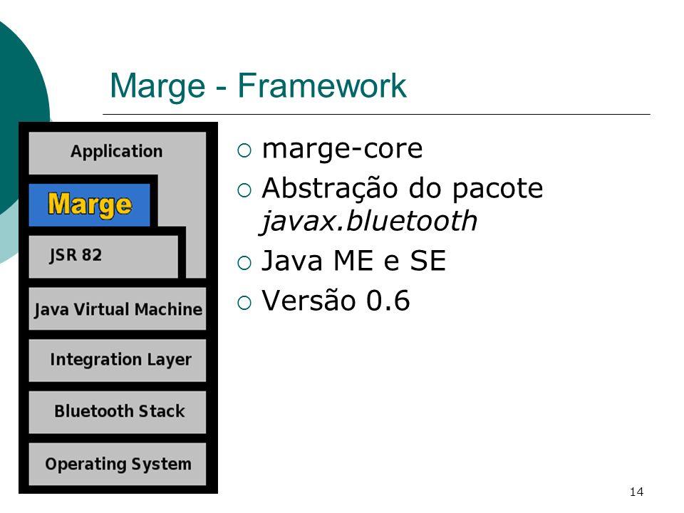 Marge - Framework marge-core Abstração do pacote javax.bluetooth