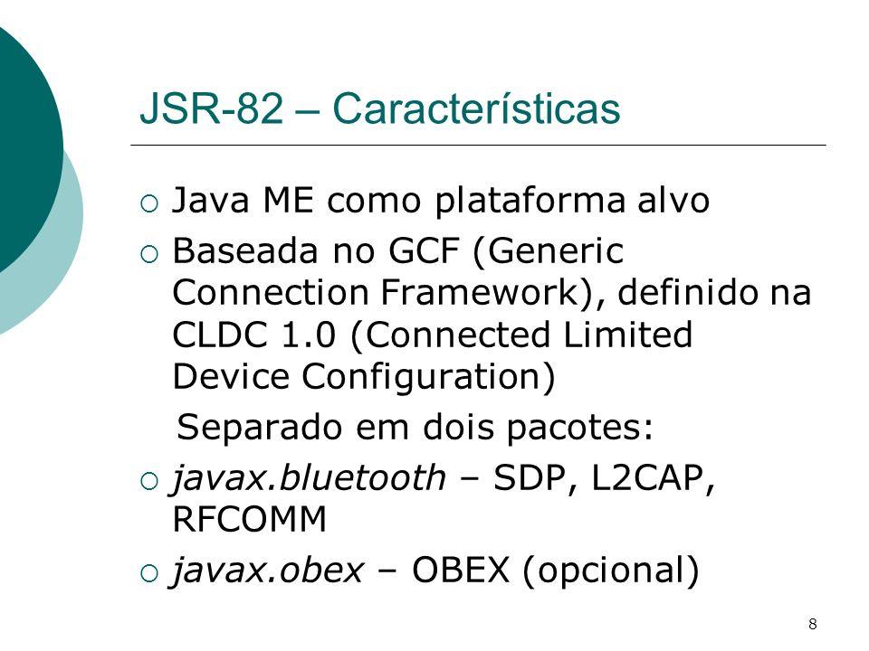 JSR-82 – Características