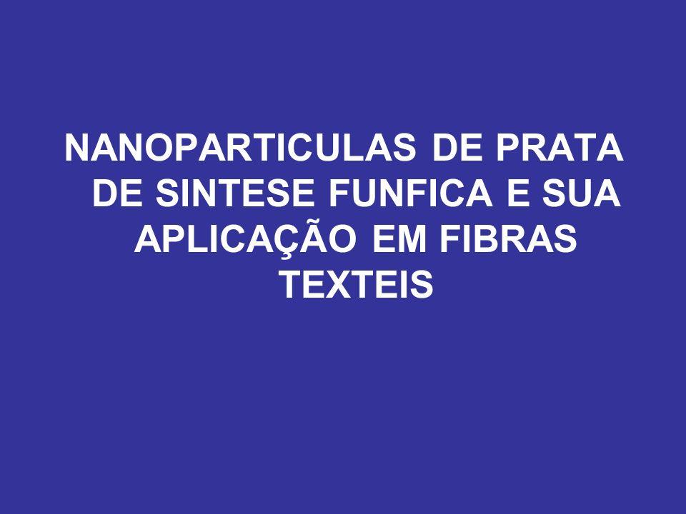 NANOPARTICULAS DE PRATA DE SINTESE FUNFICA E SUA APLICAÇÃO EM FIBRAS TEXTEIS