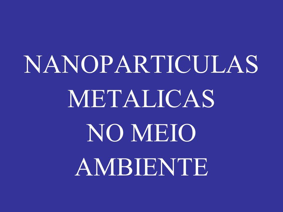 NANOPARTICULAS METALICAS NO MEIO AMBIENTE
