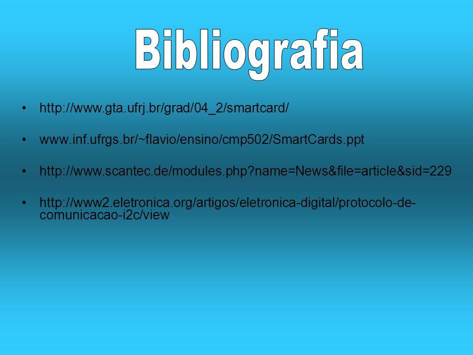 Bibliografia http://www.gta.ufrj.br/grad/04_2/smartcard/