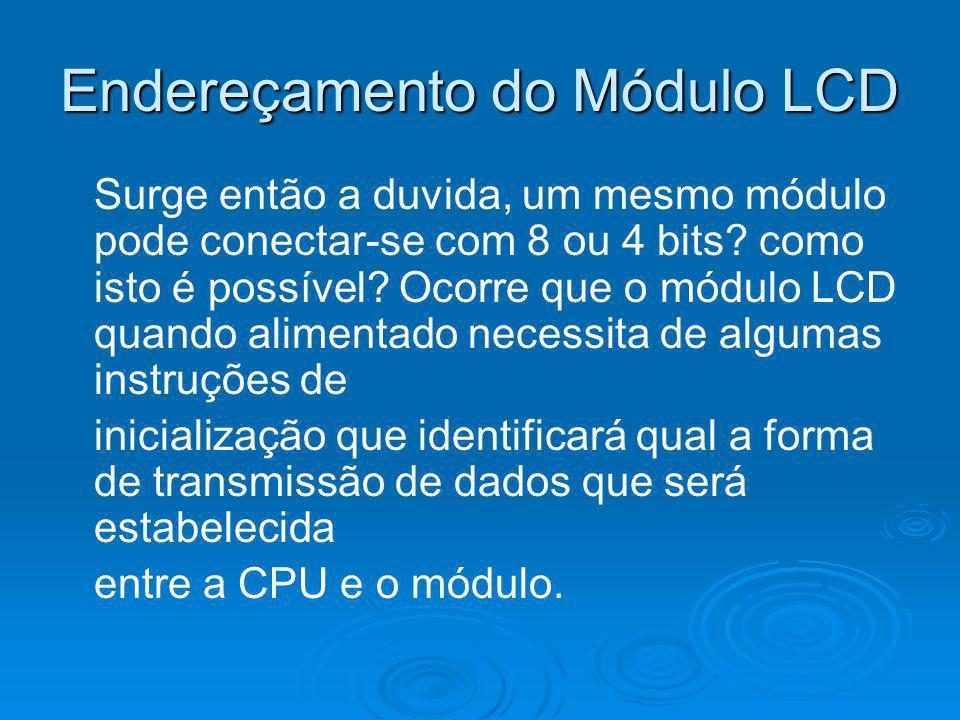Endereçamento do Módulo LCD