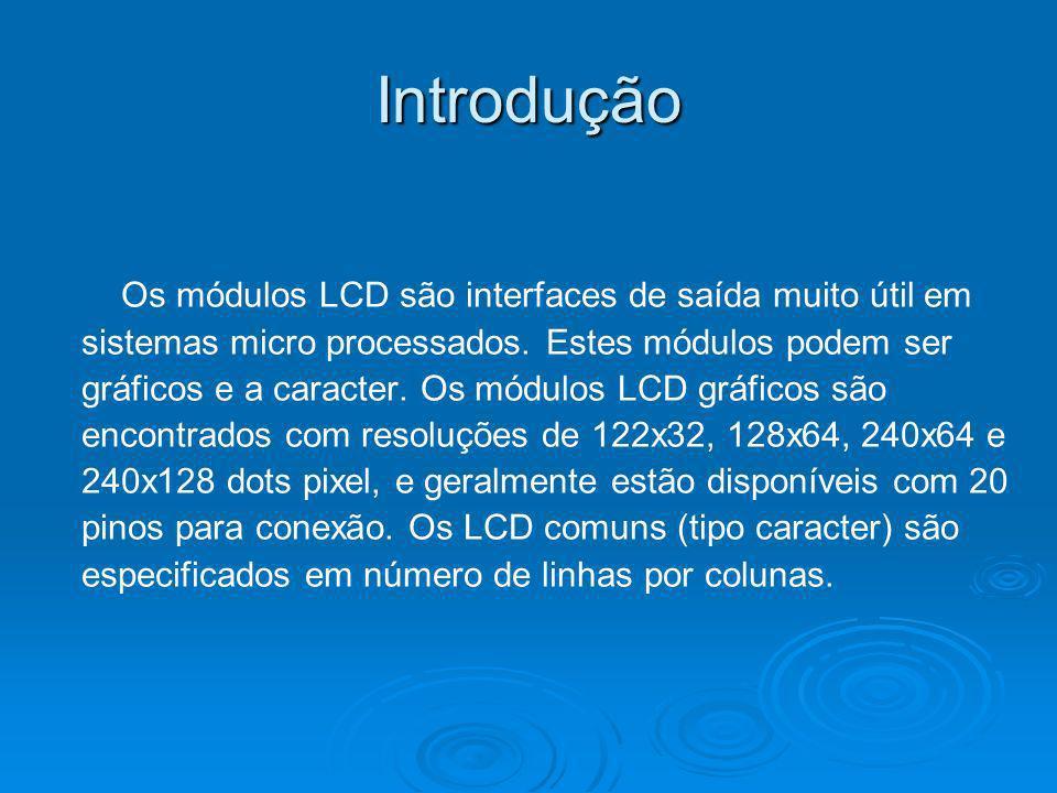 Introdução Os módulos LCD são interfaces de saída muito útil em