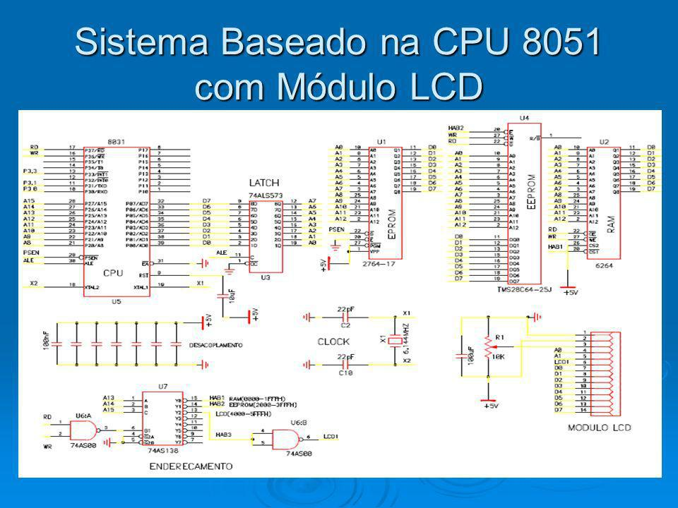 Sistema Baseado na CPU 8051 com Módulo LCD