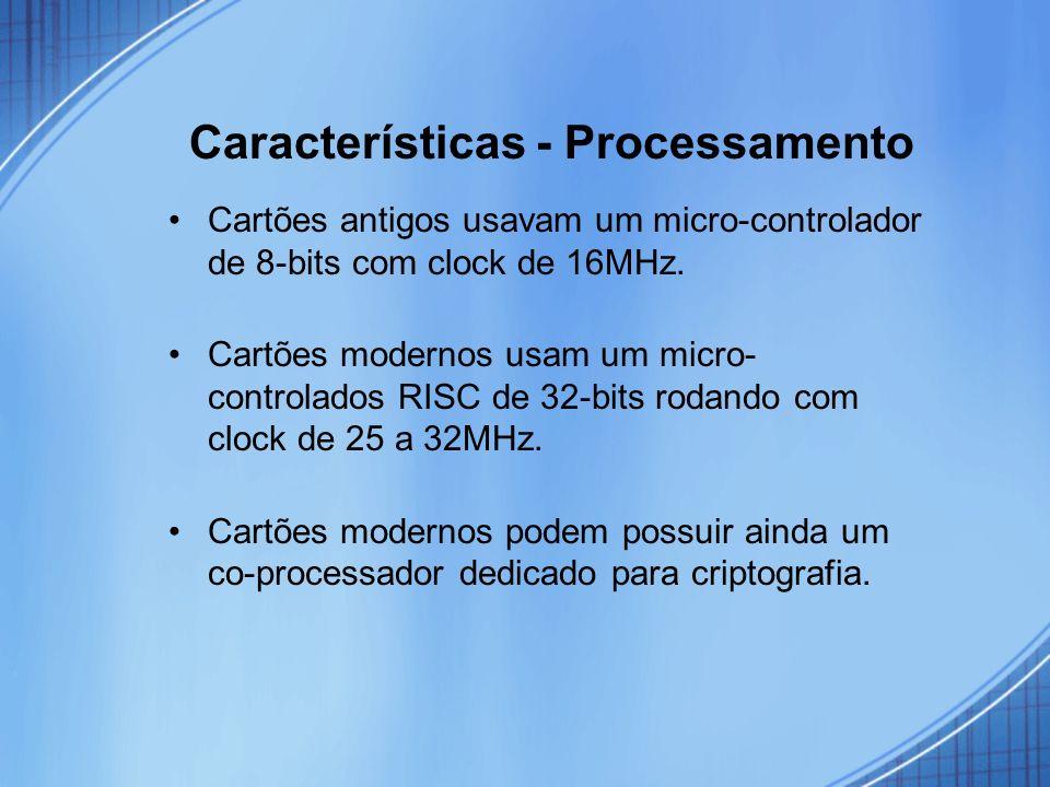 Características - Processamento