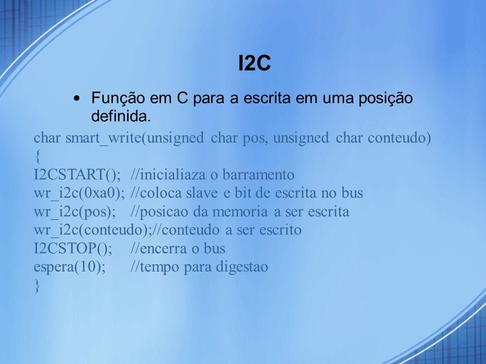 I2C Função em C para a escrita em uma posição definida.