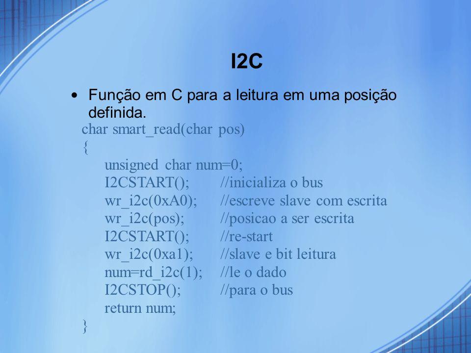 I2C Função em C para a leitura em uma posição definida.