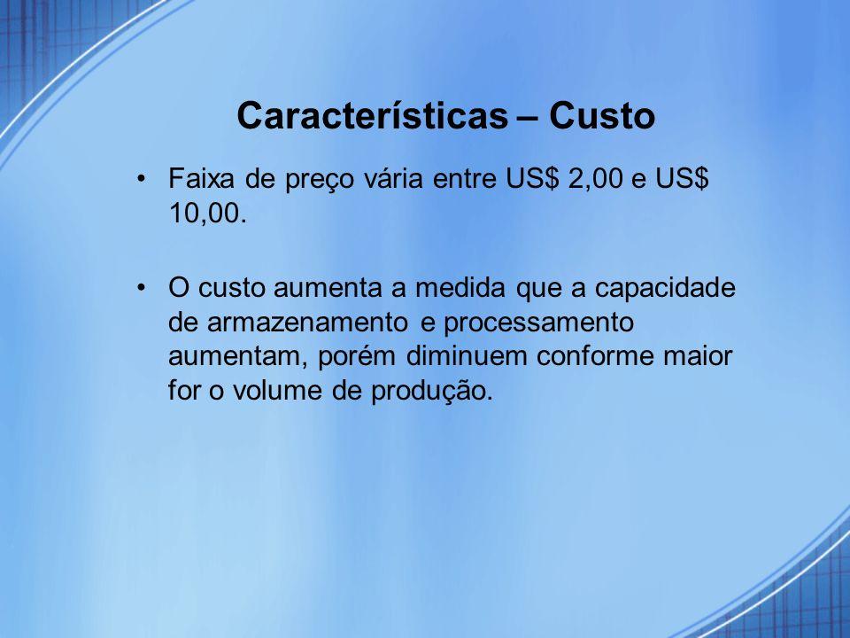 Características – Custo