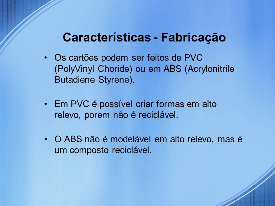 Características - Fabricação