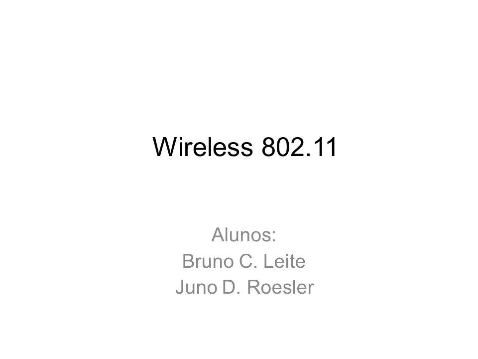 Wireless 802.11 Alunos: Bruno C. Leite Juno D. Roesler