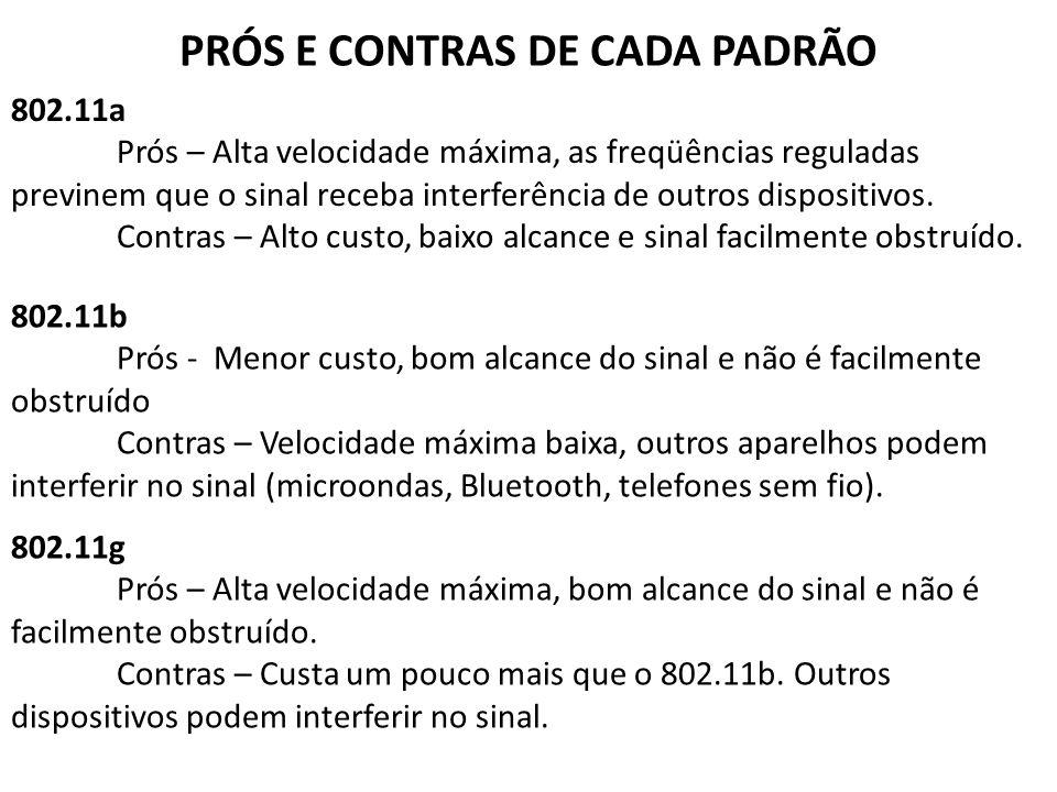 PRÓS E CONTRAS DE CADA PADRÃO