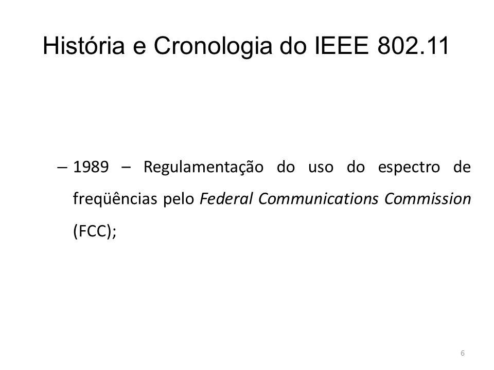 História e Cronologia do IEEE 802.11