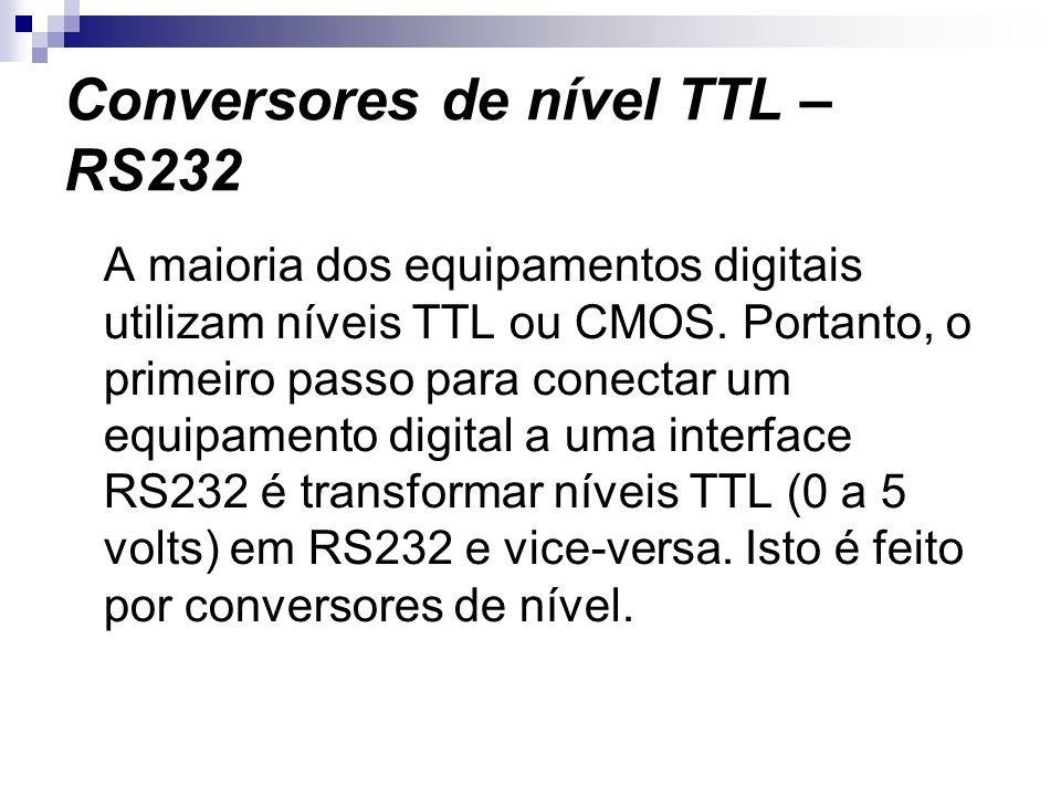 Conversores de nível TTL – RS232