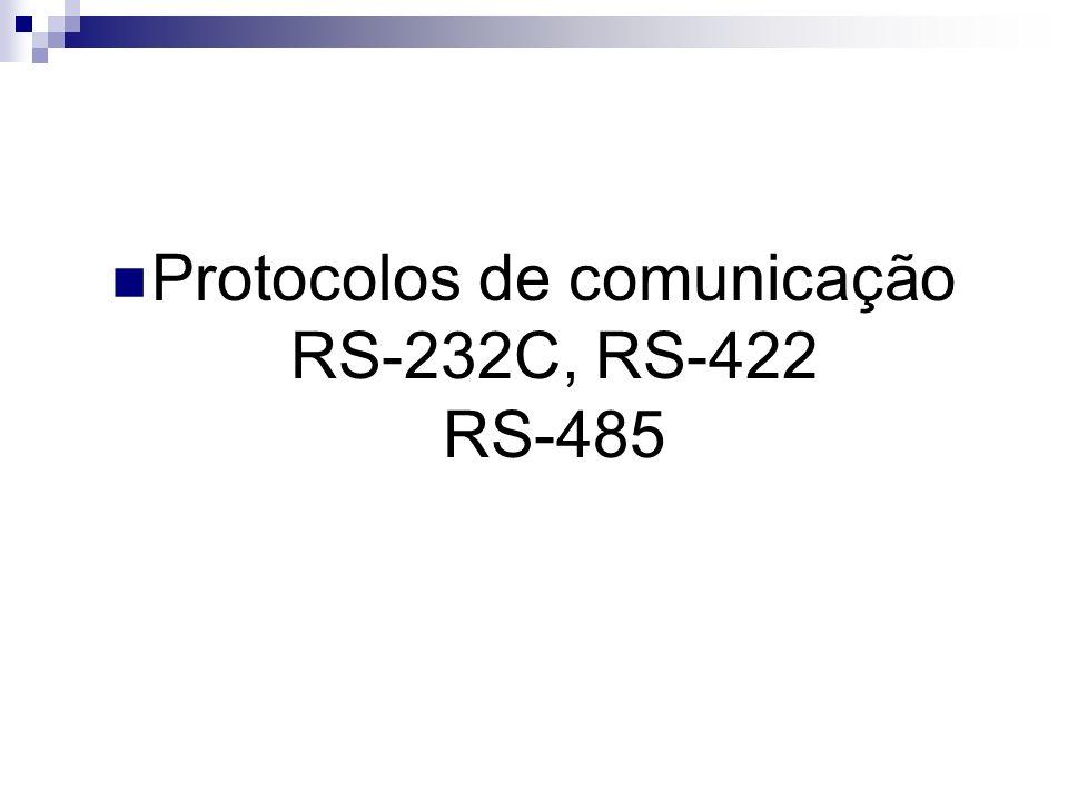 Protocolos de comunicação RS-232C, RS-422 RS-485