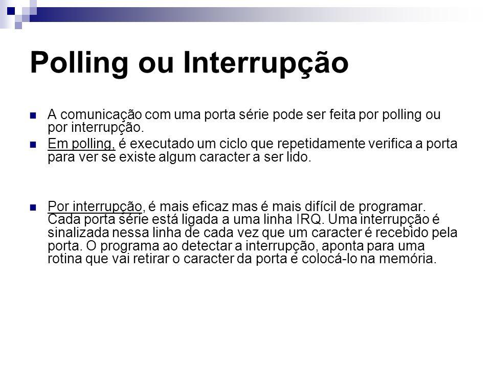 Polling ou Interrupção