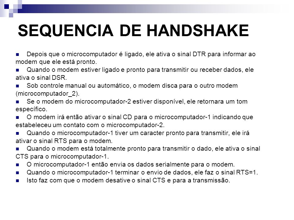 SEQUENCIA DE HANDSHAKE