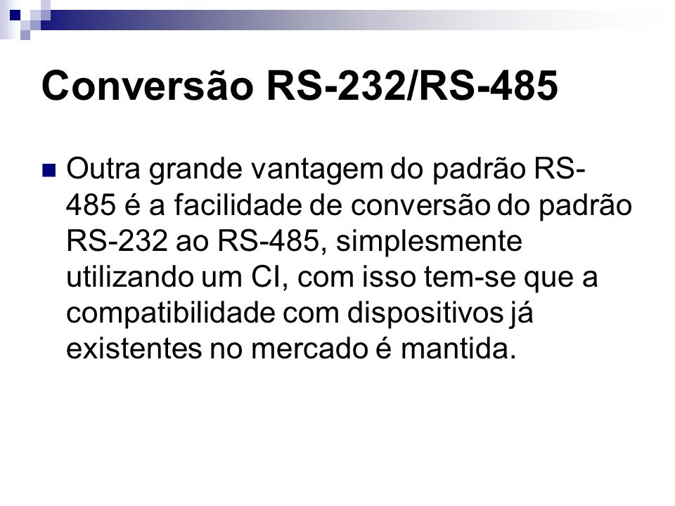 Conversão RS-232/RS-485